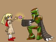 スパイロボと少女