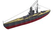 【MMD-OMF4投稿作品】加賀型戦艦1番艦『加賀』