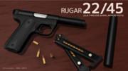 【MMD-OMF4】小口径自動拳銃 Ruger 22/45