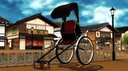 【MMD-OMF4】人力車風モデル