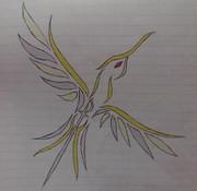 彩色紋章 蜂鳥