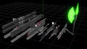 ネオジオン量産MS武装セット
