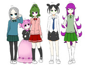 高校生ちゃん達とユラちゃんの妹