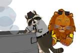 【MMD-OMF4】アライグマとライオン【モデル配布】