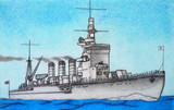 軽巡洋艦長良(彩色版)
