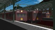 茶色い電車