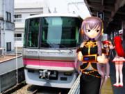 (旧)上飯田駅の昼下がり(1番線)