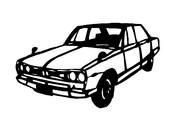 箱スカ スカイライン GT-R 切り絵