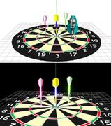 【MMD-OMF4】ダーツボードステージ【ステージ配布】