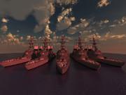 【MineCraft】駆逐艦並べてみた