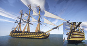 【minecraft】HMS 戦列艦 ヴィクトリー号 【LibleWorld】