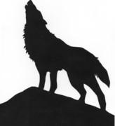 切り絵 狼