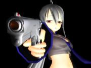 【第二回ガンアクションinMMD】銀の髪と銀の銃