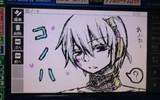 電子辞書でコノハ描いてみた。
