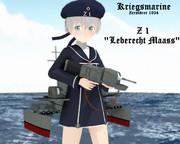 【MMDモデル配布】駆逐艦 Z1 「レーベレヒト・マース」【MMD艦これ】