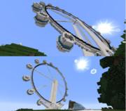 【minecraft】またまた観覧車(高さY246)【作ってみた】
