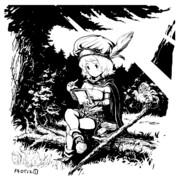 魔女っ娘さんと森のウィップアーウィル