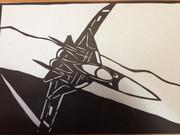 切り絵:Su-47ベルクト