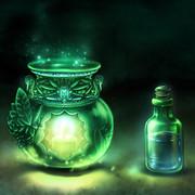 妖精のアロマオイルとアロマポット