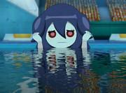 ウルミちゃんを水に浸からせてみた