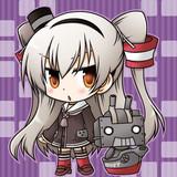 天津風ちゃんと連装砲君。
