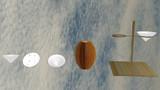 【MMDアクセサリ配布あり】穴なし可杯、可杯置き場セット