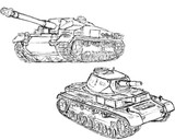Ⅲ突とⅣ号戦車