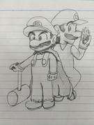 頑張って描いたマリオ&ルイージ