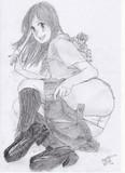 女型の巨人・・・女子高生型