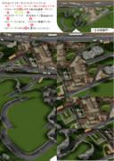 動画作成中の資料(ネオUKシティ(Cオブジェクト)サーキット)俯瞰図