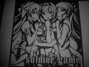 切り絵 soldier game