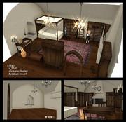 漆喰壁の部屋