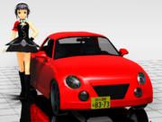 【赤肩】黒ちゃんとコペン【MMDモータースポーツ】
