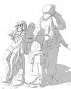 響と兵士のおっさん