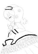 【線画】ルーミちゃん