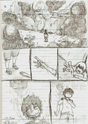 一ページ漫画「武族の邪念の影響」