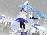 雪ミクあっぴぃ来ましたよ♡ 魔法の箒モード!