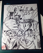 切り絵「進撃の巨人」