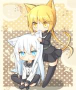 ヴェールイヌと皐月猫