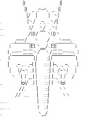 R-TYPE アスキーアート R-90 RAGNAROK パッケイラスト