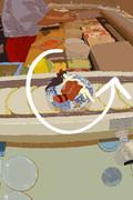 寿司屋で回転するまゆだぬきさん.jpg