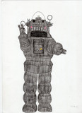 ロビー・ザ・ロボットを描いてみた
