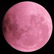 フリー素材 赤色の月
