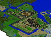 【minecraft】名古屋城鳥瞰図 (完成)