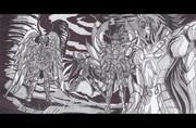 冥界三巨頭  vs. 双子座のカノン