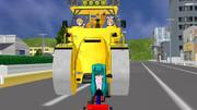 ロードローラーVS三輪車
