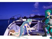 ミクさんと、ミクさんを南の島に連れて行きました。(番外編)二人のミクさんだってえ!?参ったぜ。