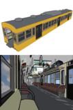 【配布】とある私鉄電車の内装。
