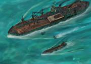水上機母艦モシリコルチ&カンナカムイ級駆逐艦