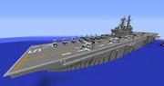 【Minecraft】ワスプ級強襲揚陸艦